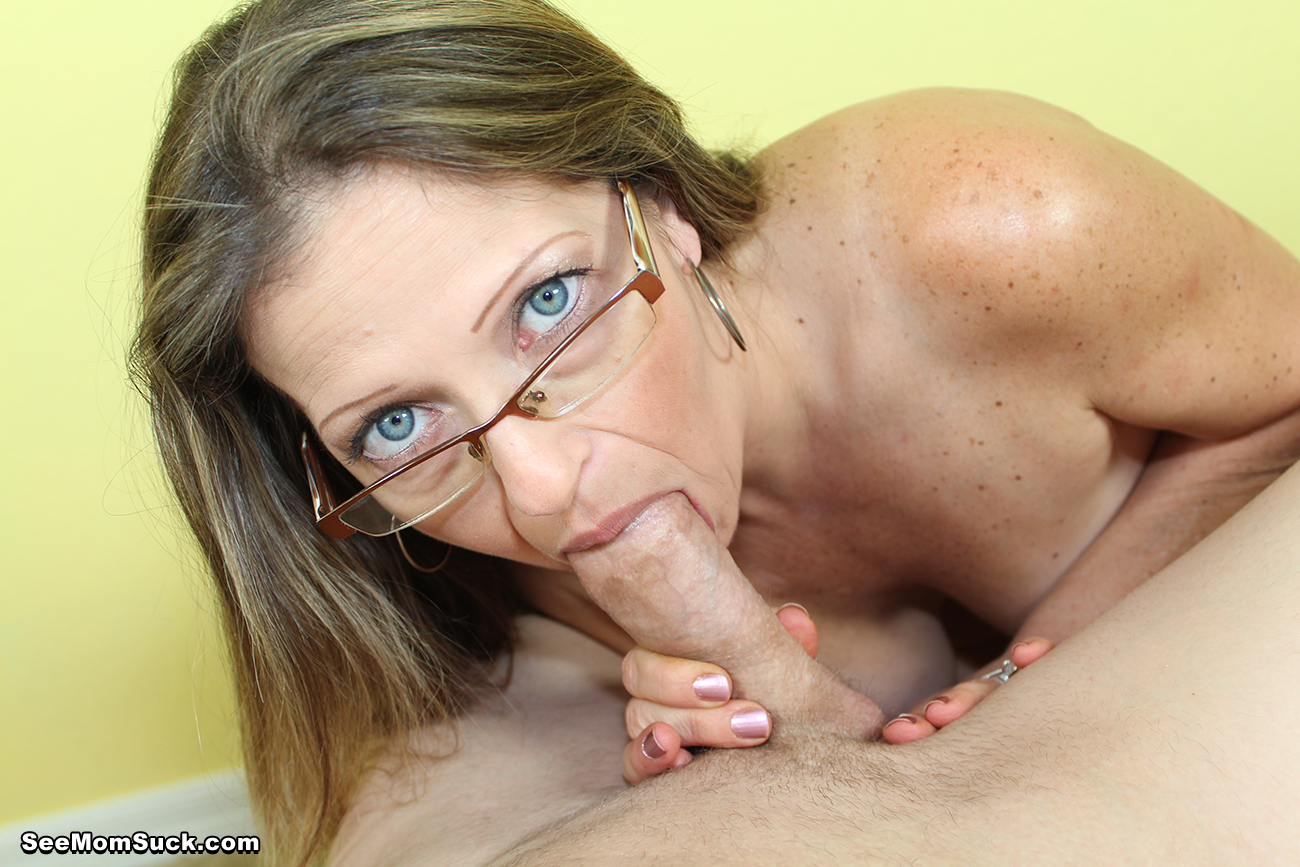 My mom blowjob