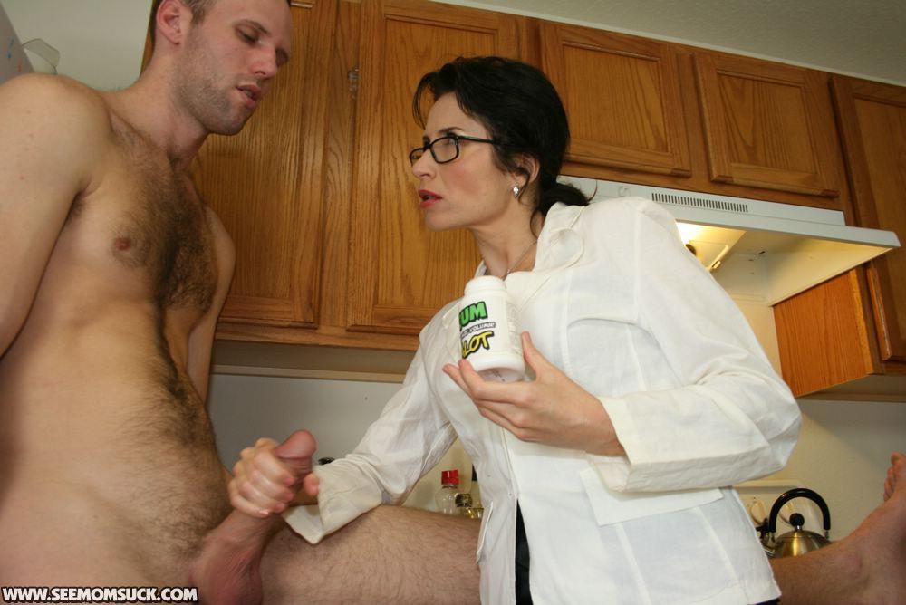 mom handjob Hot gives
