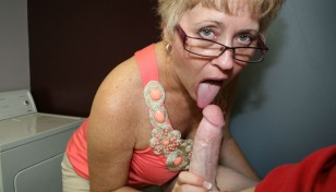 Tracy Licks licking cock