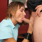 Lillian Tesh giving a blowjob