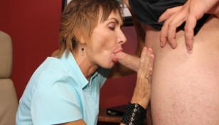 Lillian Tesh giving a blowjob
