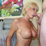 Milf Nikki Sixxx giving a blowjob