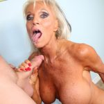 Sally D Angelo porn she is a hot granny and sucks off her step son