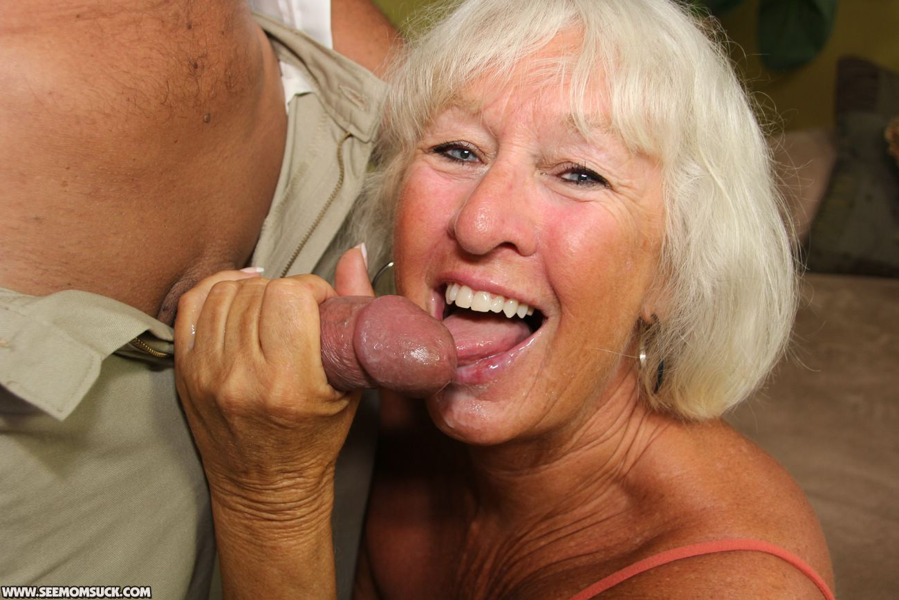 Milf sucking his dick hard after he cums in her mouth 7