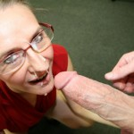 Sara James Gives An Intense Classroom Blowjob And Gets Cum On Her Glasses