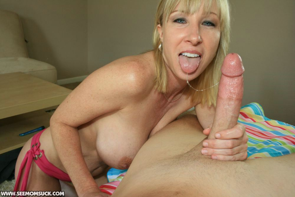 Mature babe sucks a monster cock and gets a big monster facial cumshot 10