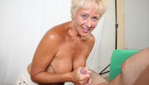 Tracy Licks milking hard cock