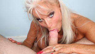 Sally Dangelo sucking on a monster prick