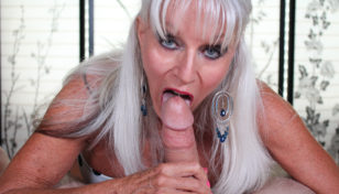 Sally D'Angelo giving a blowjob