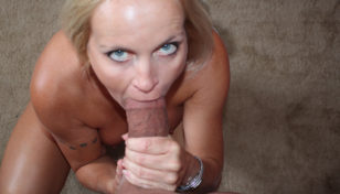 blonde step mom gagging on thick prick