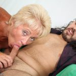 Tracy Licks Sucking Off a Male Model