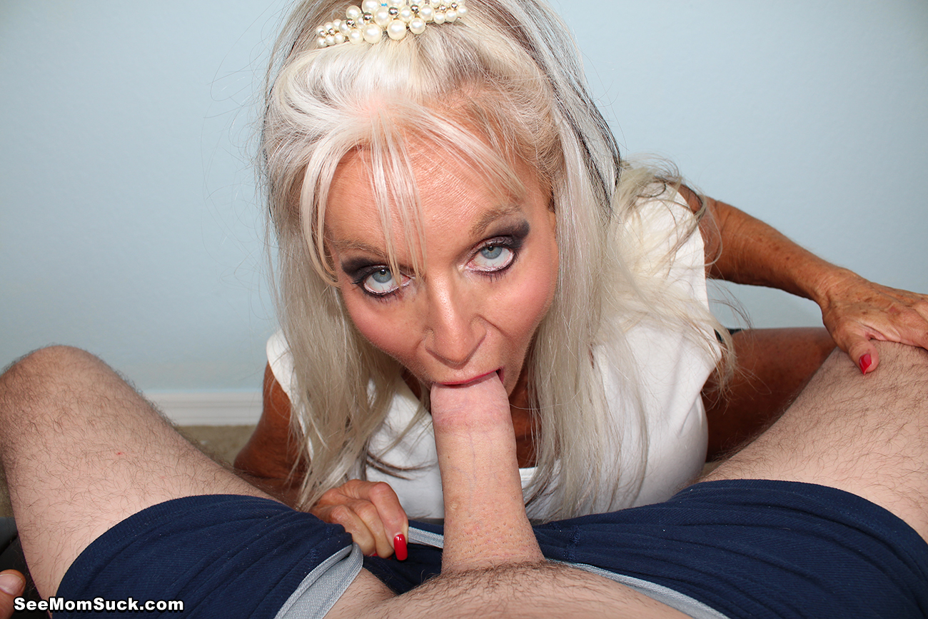 Busty mom suck and ride son s big cock 3