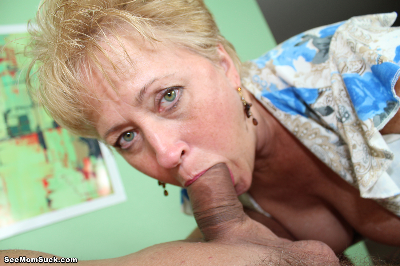 Blonde milf takes cum in her mouth after getting ass banged 3
