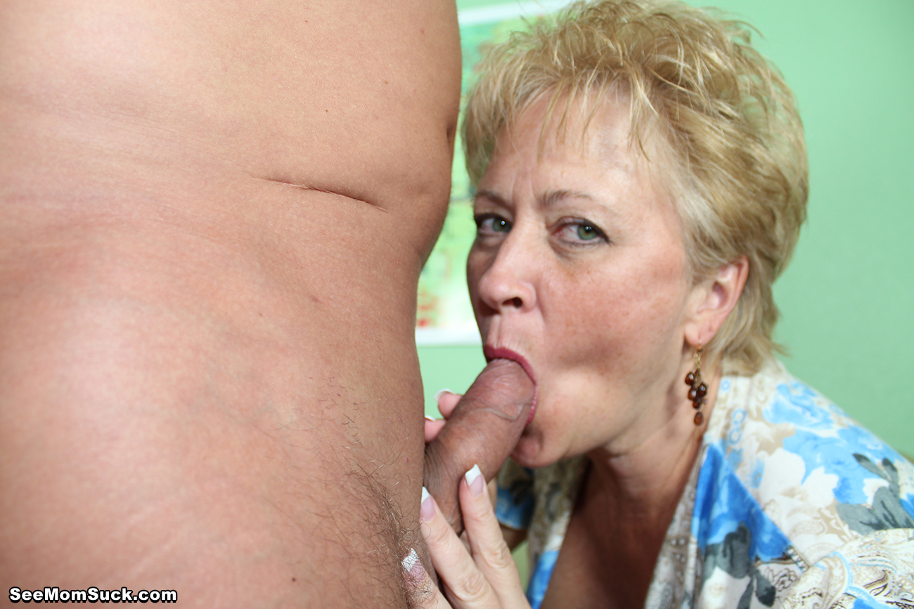 Tracy sucks cock