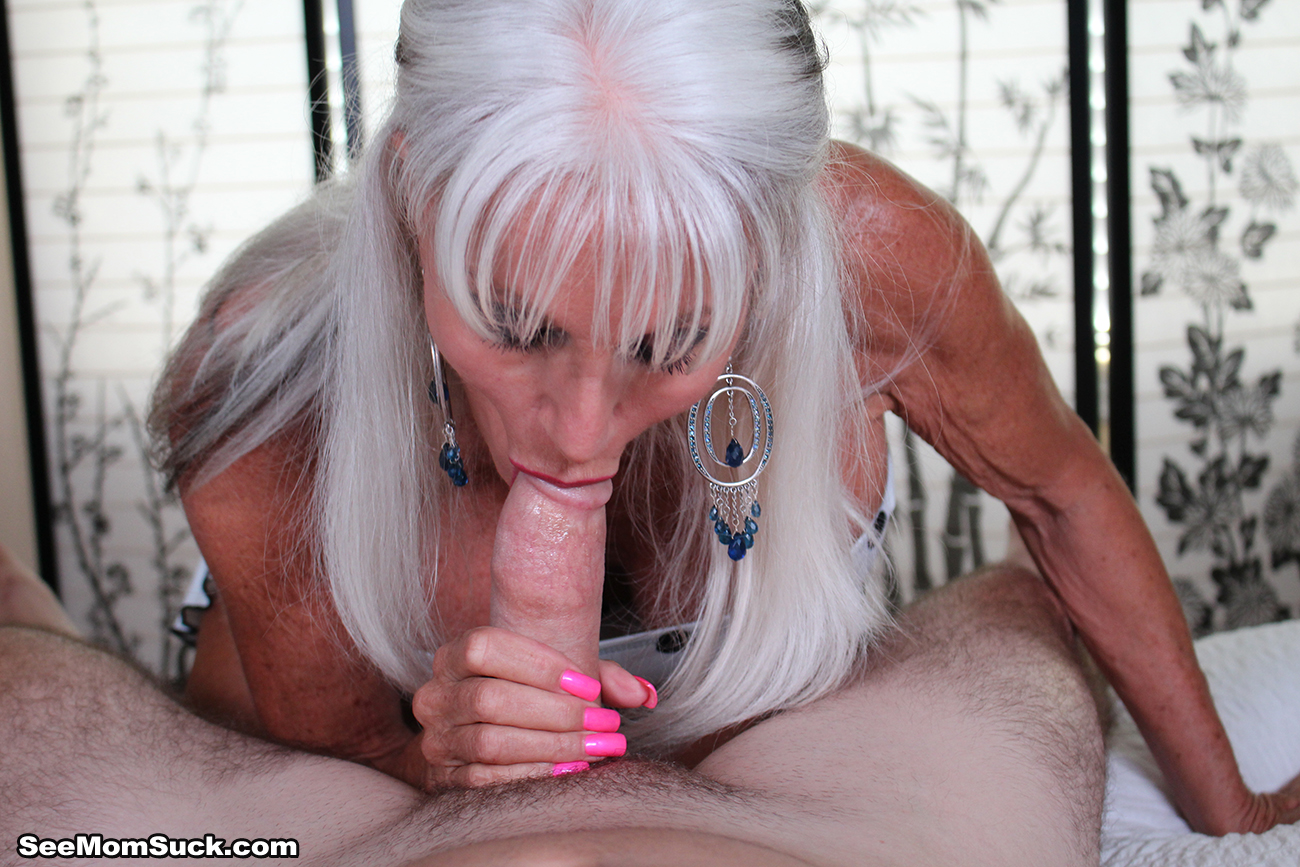 Grandma gives a hot blowjob then lets him pound her pussy 6