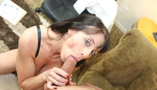 Bibette Blanche giving a blowjob