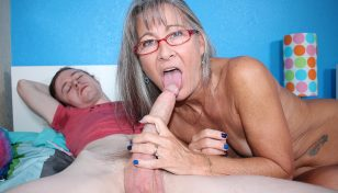Leilani Lei blowing stepson's cock