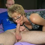 Tracy Licks Slobbers All Over A Huge Prick