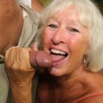 Perverted Granny Jeannie Lou Sucks Off the Security Guard