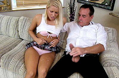Watch Mr. Franklin Spurts On God-Daughter at See Mom Suck