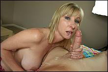 Hot Mommy Making A Young Cock Burst With Her Blow Job Skills