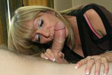 Blond Cougar Getting Her Lips Stretched With A Massive Cock