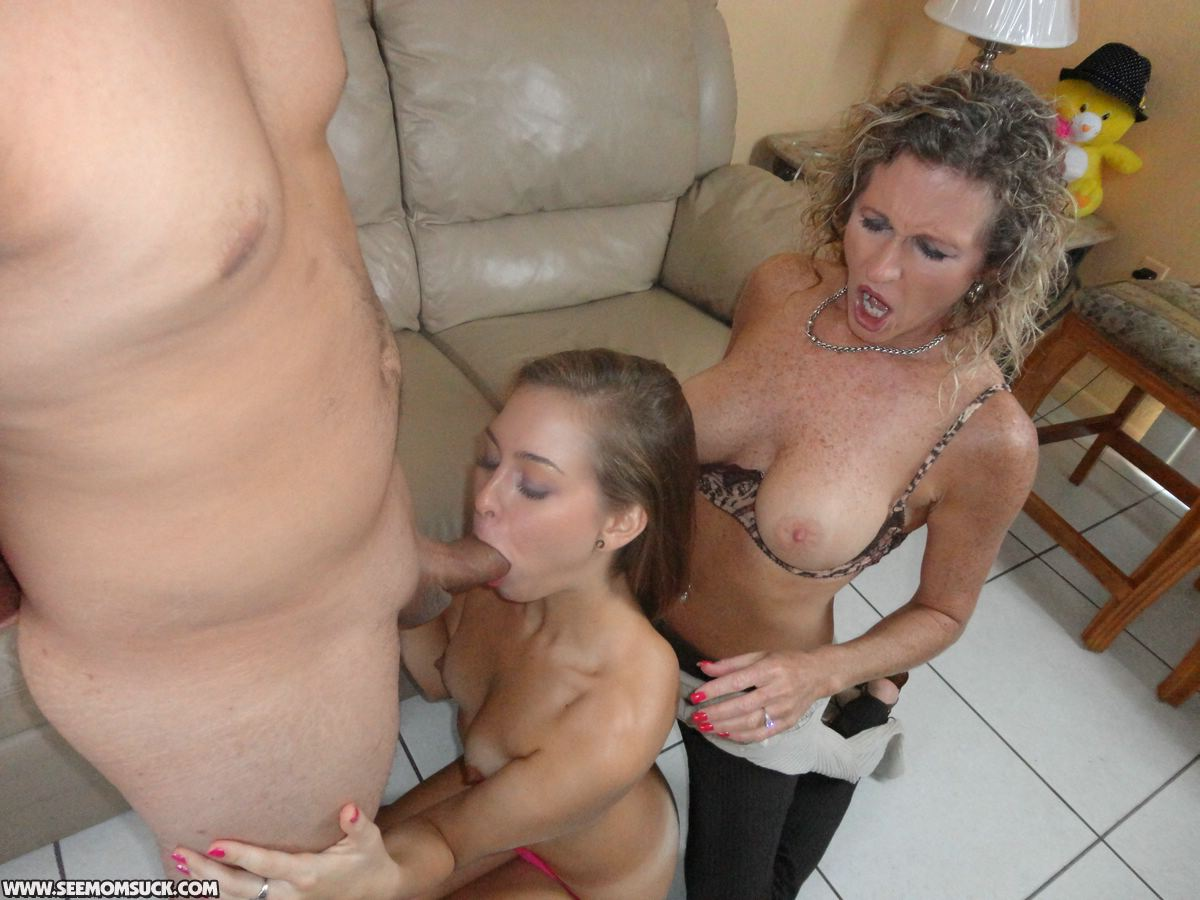 Slut moms sucking young cock