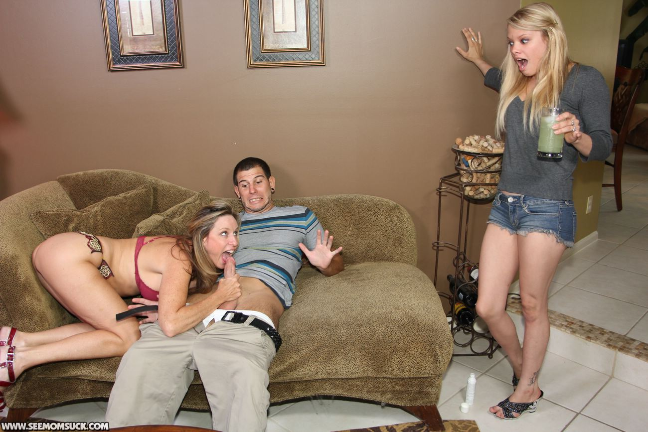 Young Couple Caught Mom