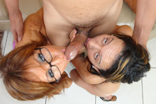 Scandalous Tag Teaming MILF And Teen Makes This Guy Nut Hard