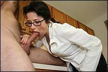 Horny Mommy Sucks A Cock While Hubby Is Away