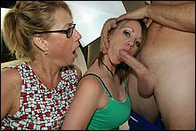 Mommy Gets Perverted With Her Teen Daughter In These Hot Oral Scenes