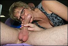 Mature Mommy Enjoying A Young Cock In Her Mouth