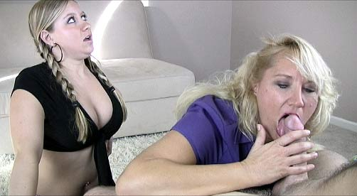 Sms vids 15 Breanna and mom give suc at large cock.