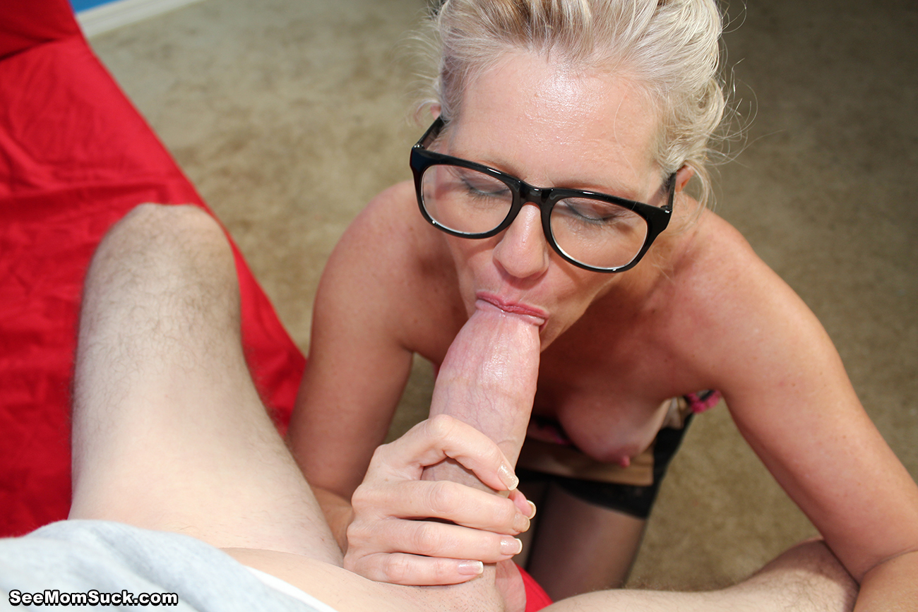 Mature Gilf Sucks My Cock